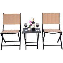 Outdoor Patio Foldable Bistro Furniture Set