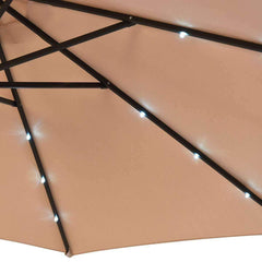 LivingTrend Outdoor & Garden Square Outdoor Umbrella with LED Lights