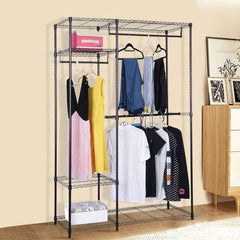 LivingTrend Storage & Organization Portable Steel Closet Hanger Storage Rack Organizer