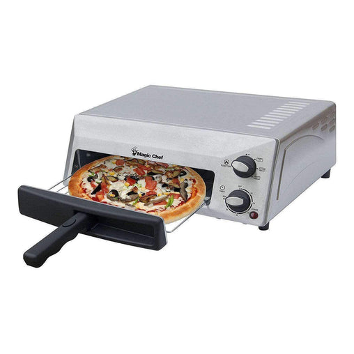 Magic Chef Kitchen Appliances Magic Chef Countertop Pizza Oven HQPZO13ST Stainless Steel, 12 inches,