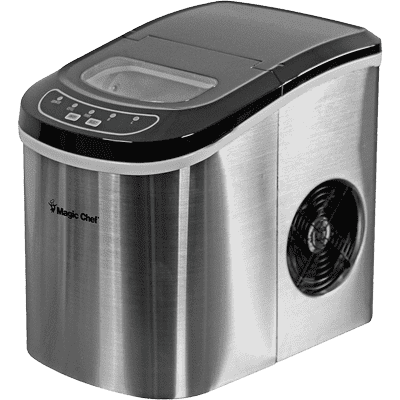 Magic Chef Kitchen Appliances Silver Magic Chef 27 lb. Capacity Countertop Portable Ice Maker