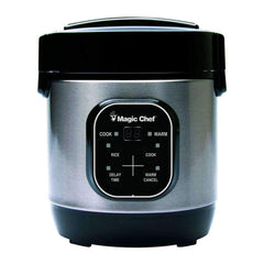 Magic Chef Kitchen Rice Cooker, Non Stick Stainless Steel 3-Cup