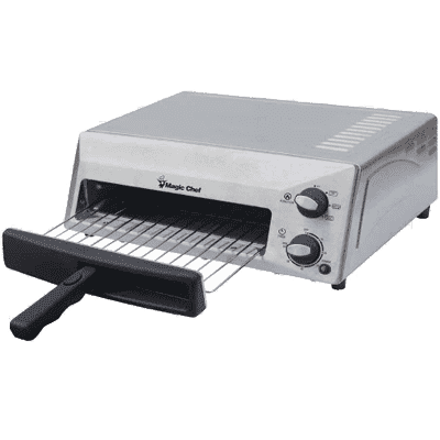 "MagicChef Kitchen Appliances Countertop Pizza Oven, 12"", Stainless"