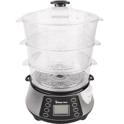 MagicChef Kitchen Appliances Electric Food Steamer, 3 Tier