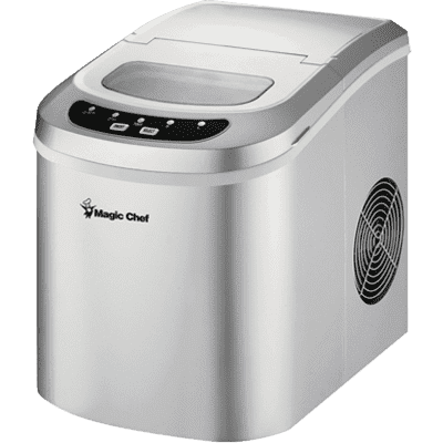 MagicChef Kitchen Appliances Ice Maker, 27 lbs/day, Portable, Silver