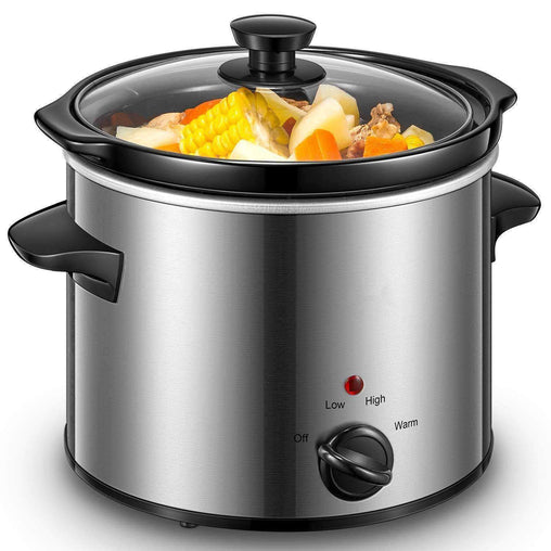 MareEssentials Cookware Slow Cooker 4 Quart with 3 Adjustable Temp Settings Serves 4 People