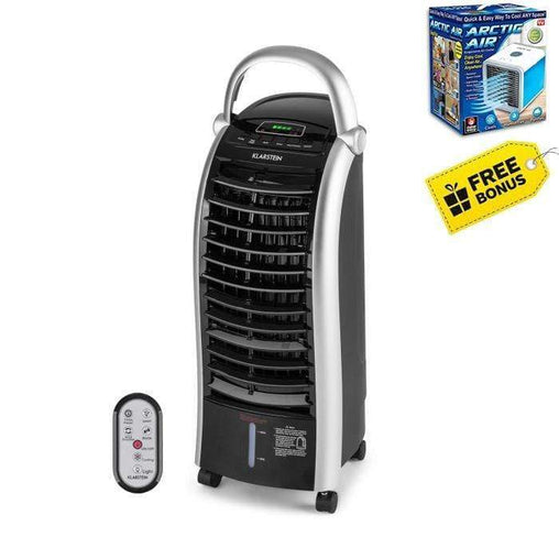 MareLight Heating & Cooling MaxFresh Portable Evaporative Cooler Room Refresher Air Cooler with Evaporative Water Fan - with bonus Arctic Personal Cooler!