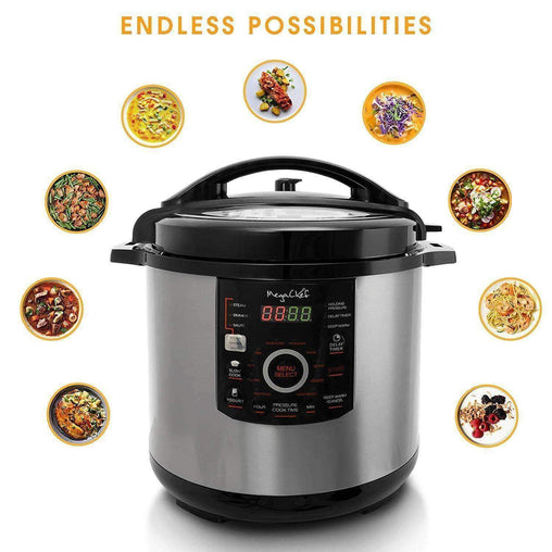 Megachef Kitchen Appliances Megachef 12 Quart Digital Pressure Cooker with 15 Presets