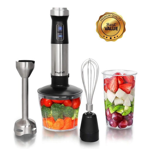 Megachef Kitchen Appliances Megachef 4 in 1 Multipurpose Immersion Hand Blender With Speed Control and Accessories