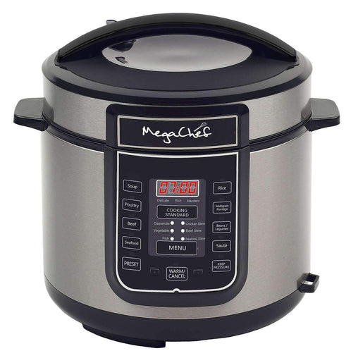 Megachef Kitchen Appliances Megachef 6 Quart Digital Pressure Cooker with 14 Pre-set Multi Function Features - Reconditioned