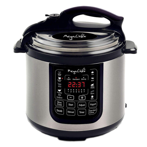Megachef Kitchen Appliances Megachef 8 Quart Digital Pressure Cooker with 13 Pre-set Multi Function Features - Reconditioned