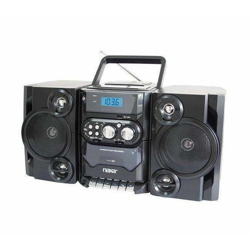 Naxa Home Stereo Systems Naxa Portable MP3-CD Player W- AM-FM Stereo Radio Cassette Player-Recorder