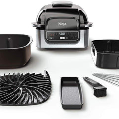 Ninja Kitchen Appliances Ninja - Foodi 5-in-1 Indoor Smokeless Air Fry Electric Grill - Stainless Steel/Black