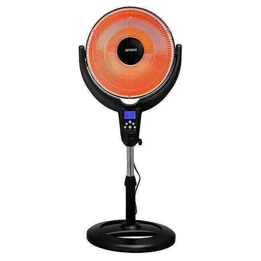 "Optimus Heaters and Fans Optimus 14"" Oscillitating Pedestal Digital Dish Heater with Remote"