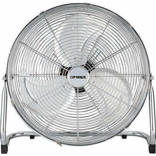 Optimus Heating & Cooling F-4122 Industrial Grade High Velocity Fan Chrome Grill, 12""