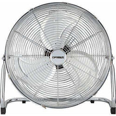 Optimus Heating & Cooling F-4122 Industrial Grade High Velocity Fan Chrome Grill, 12