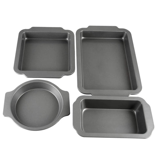 Oster Cookware Oster Baking Shop 4-Piece Non-Stick Bakeware Set, Grey