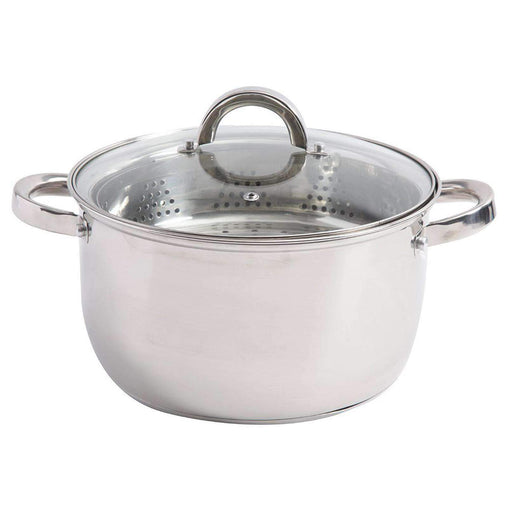 Oster Cookware Oster Sangerfield 6 Quart Stainless Steel Casserole with Steamer Insert and Lid