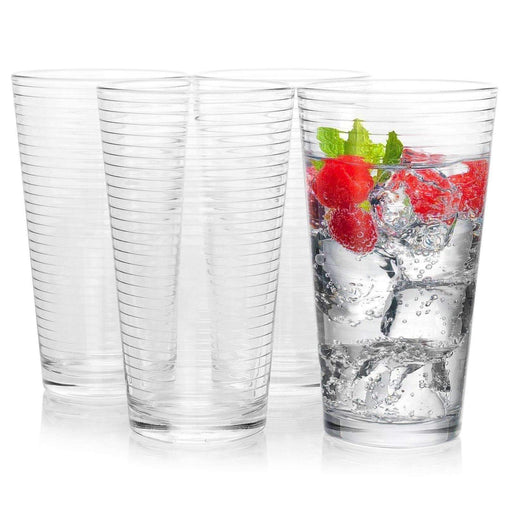 Pasabahce Tableware Pasabahce Doro 4-Piece 16.75 oz Cooler Glass Set, Clear