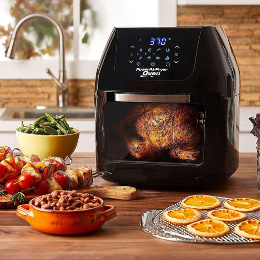 Power AirFryer XL Kitchen XL 6 QT Power Air Fryer Oven With 7 in 1 Cooking Features with Professional Dehydrator and Rotisserie