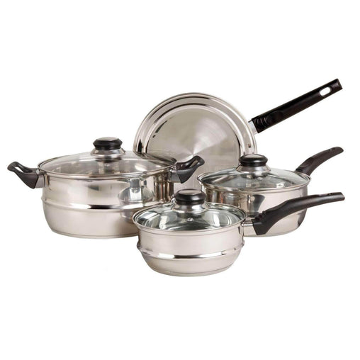 Sunbeam Cookware Gibson Sunbeam Ridgeline Stainless Steel 7-Piece Cookware Set