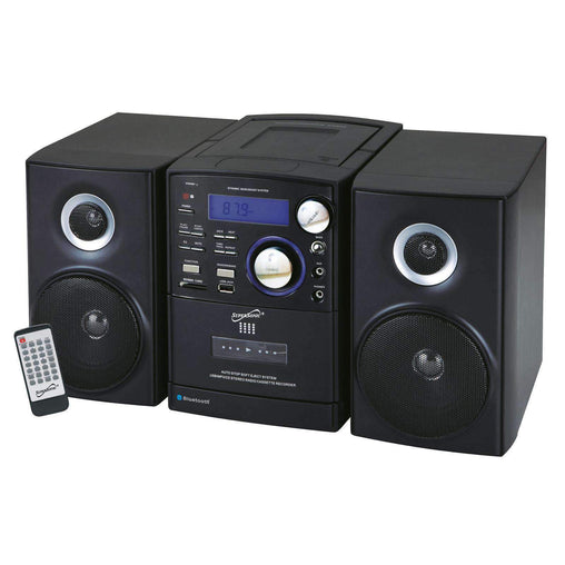 Supersonic Home Stereo Systems Supersonic Bluetooth CD-MP3-Cassette Player in Black