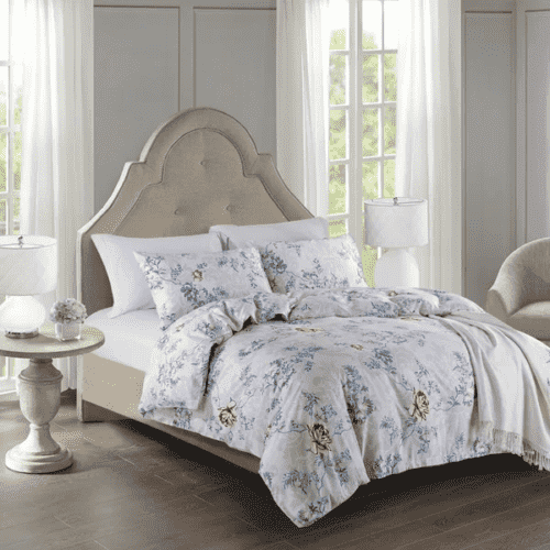 Victoria's Rose Bedding & Bath 3pc Bedding Sets 100% Cotton Duvet Cover and 2 Pillow Cases - Classic Floral
