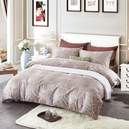 Victoria's Rose Bedding & Bath 3pc Bedding Sets 100% Cotton Duvet Cover and 2 Pillow Cases - Royale Floral Peacock