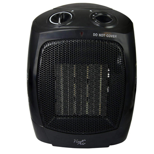 VieAir Heaters and Fans Vie Air 1500W Portable 2-Settings Office Black Ceramic Heater with Adjustable Thermostat