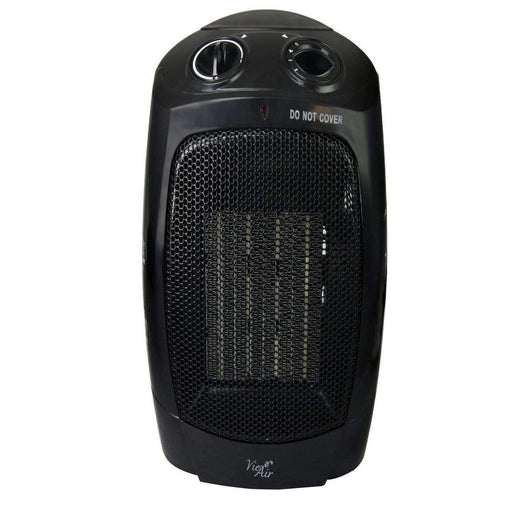 VieAir Heaters and Fans Vie Air 1500W Portable 2-Settings Office Black Ceramic Heater with Adjustable Thermostat - Reconditioned