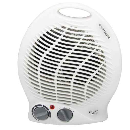 VieAir Heaters and Fans Vie Air 1500W Portable 2-Settings White Home Fan Heater with Adjustable Thermostat