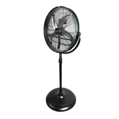 "VieAir Heaters and Fans Vie Air 20"" Industrial 3 Speed Heavy Duty Powerful and Quiet Metal High Velocity 360 Degree Tilting Pedestal Drum Fan"