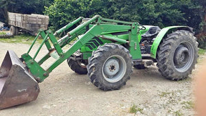 DEUTZ AGROLUX 90 WITH FRONT LOADER, YEAR 2008, 90 HP