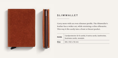 "Matte Leather Stitched ""Slimwallet"" - Secrid"