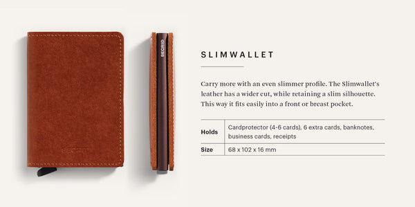 "Stitch Linea Leather ""Slimwallet"" - Secrid"