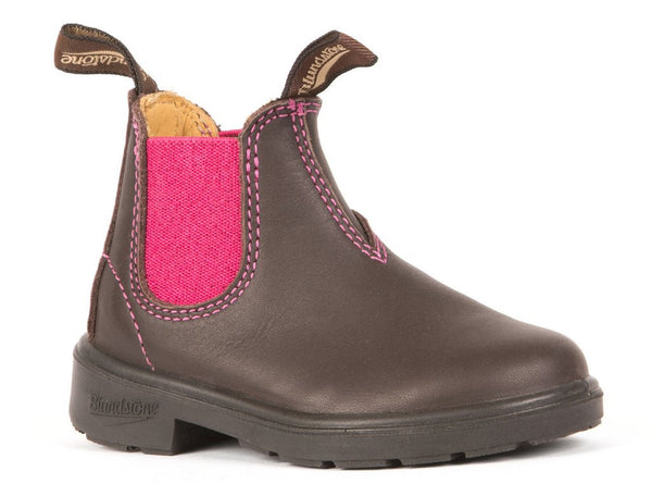 Blundstone #1410 - Blunnies Children's Boot (Brown/Pink Elastic)