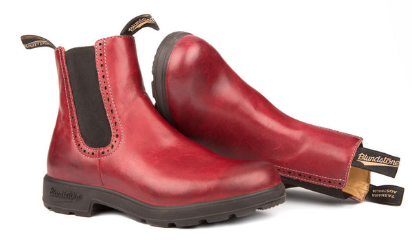 Blundstone #1443 - Girlfriend Boot (Burgundy Rub - pair)