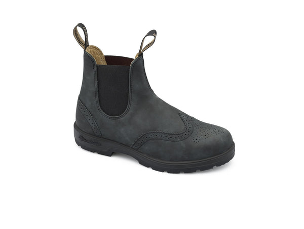 Blundstone #1472 - Leather Lined Brogue Boot (Rustic Black)