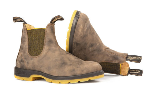 Blundstone #1944 - Two Tone Sole Boot (Rustic Brown & Mustard) - DISCONTINUED