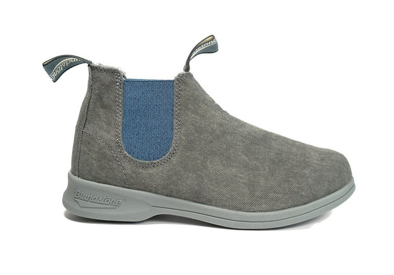 Blundstone #1369 - Canvas Boot II (Charcoal/Blue Elastic) - DISCONTINUED