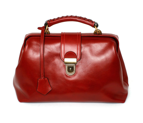 Doctor's Bag (Ltd. Red Vegetable Tanned Italian leather) - JMB