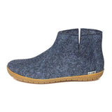 Glerups Slipper - Ankle Boot Cut (Natural Rubber Sole)