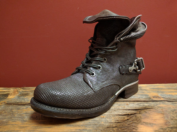 717298 Ankle Combat Boot (Dark Chocolate) - A.S. 98