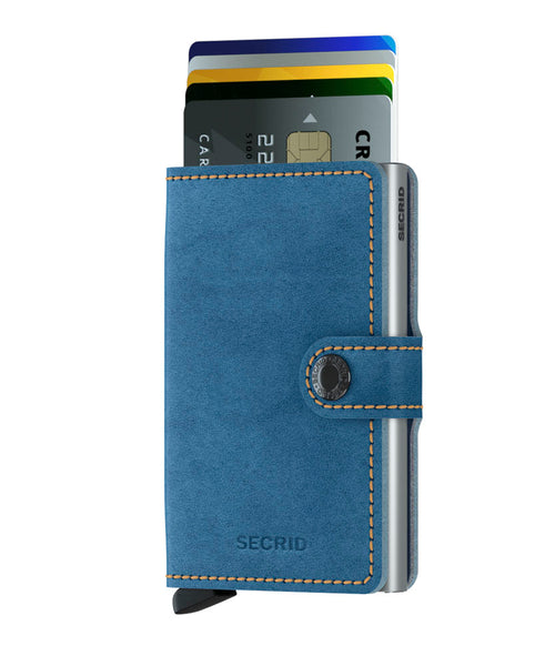 "Indigo Leather ""Miniwallet"" - Secrid"