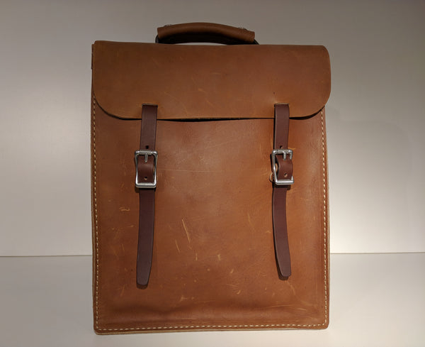 Transit Backpack (Oiled Tan) - JMB Leather Goods