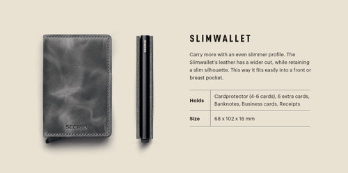"Indigo Leather ""Slimwallet"" - Secrid"