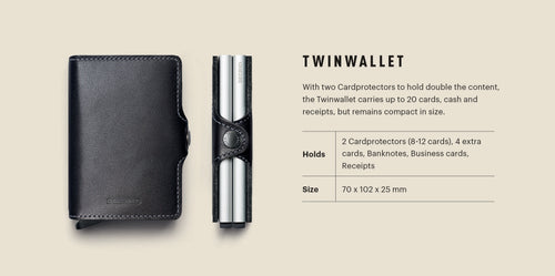 "Crisple Leather ""Twinwallet"" - Secrid"