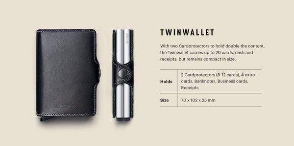 "Matte Leather ""Twinwallet"" - Secrid"