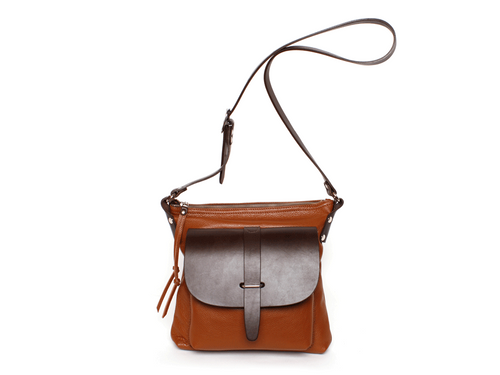 Cora Shoulder Bag (Medium Brown) - JMB/King Mountain
