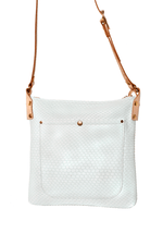 Cora Shoulder Bag (White Crosshatch) - JMB/King Mountain